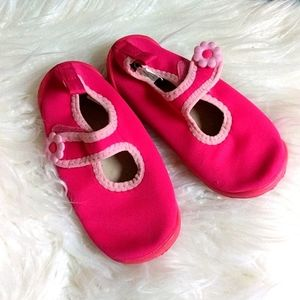 Pink Velcro Size 10 Water Shoes